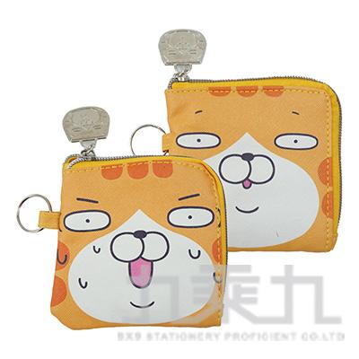 白爛貓皮質L型零錢包 LCDP170-1 (款式隨機)