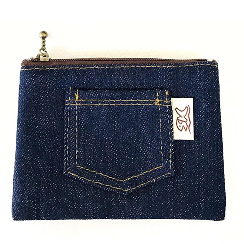丹寧風造型三層零錢包