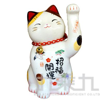 95#彩繪招福開運招財貓(附鈴鐺)18.5cm 7614