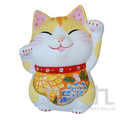 95#招福和福招(菊)招財貓10cm K3428