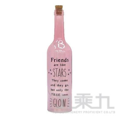 酒瓶燈飾STAR-粉紅  BOKIGLPK