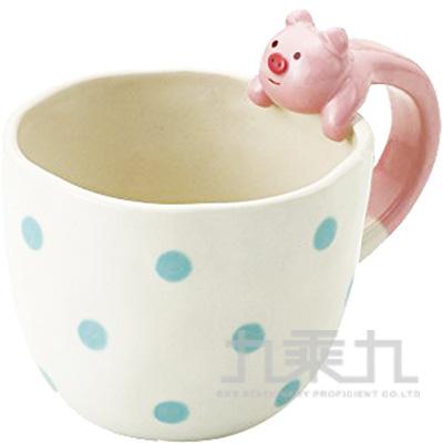動物把手馬克杯-粉紅豬ZCB-97502