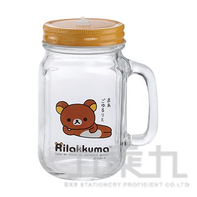 拉拉熊玻璃梅森杯-躺躺