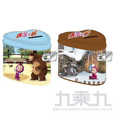 瑪莎與熊 心型附鎖存錢筒 (款式隨機)