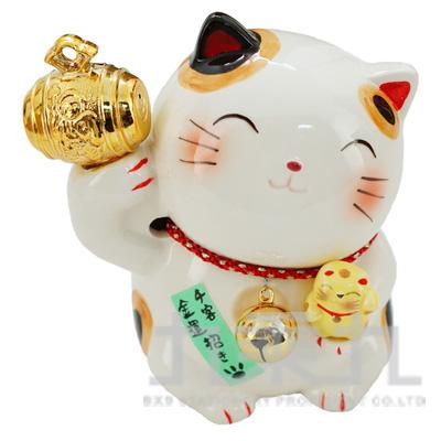 金小槌貓撲滿10.5cm K3568