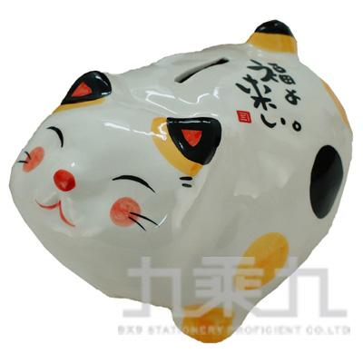福來胖胖貓撲滿10cm K1667