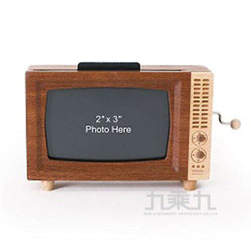 手搖音樂鈴相框 /  復古電視