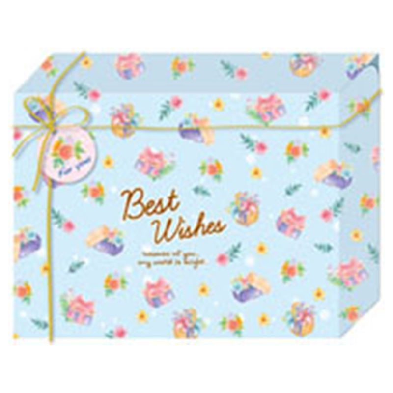摺疊禮物長方盒(小)-禮物花 BD4110-04