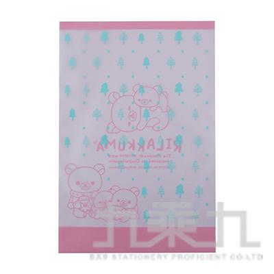 拉拉熊B6透明禮物袋-藍版 RK08062B