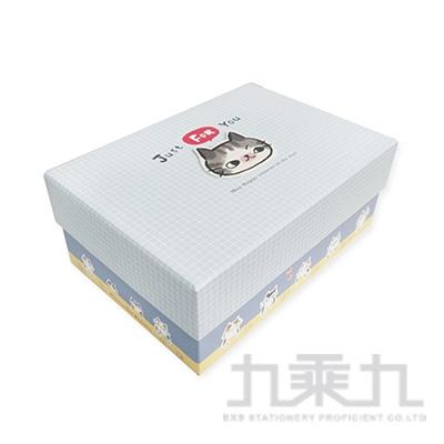 O-Cat貓咪3號上下蓋禮物盒-藍