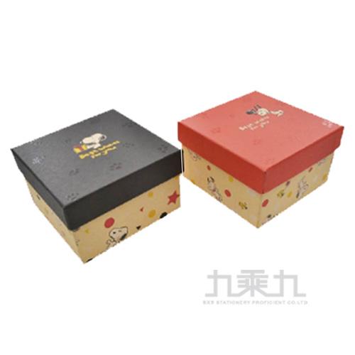 SNOOPY史努比牛皮正方禮物盒 DK-6856