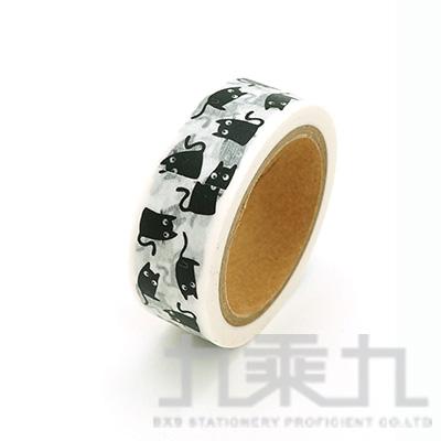 黑白文藝盒裝紙膠帶-快樂鼠