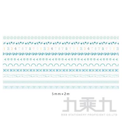 手帳DIY紙膠帶-湖岸綠