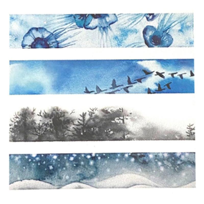 花朝和紙膠帶-寒霜 80426