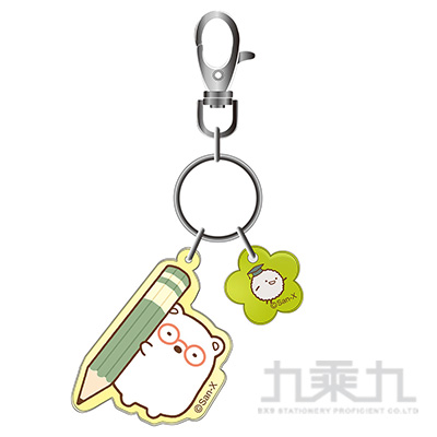 小夥伴果凍鑰匙圈-白熊
