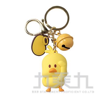 小黃鴨鈴鐺鎖圈 F0312