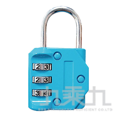 簡約3碼密碼鎖(藍)-簡單生活