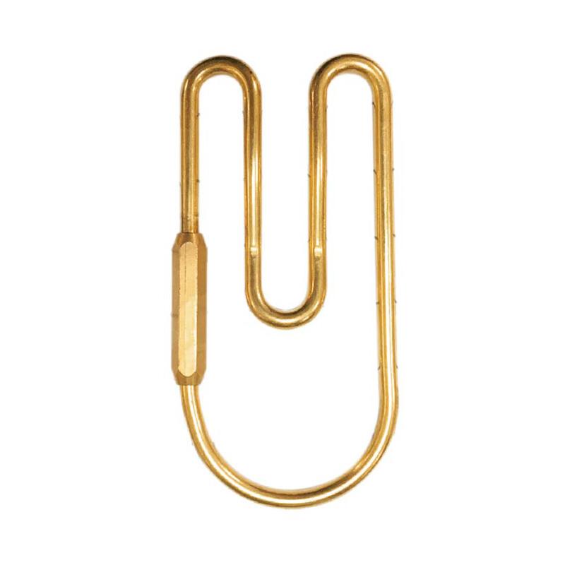 黃銅鑰匙扣(U型)-簡單生活