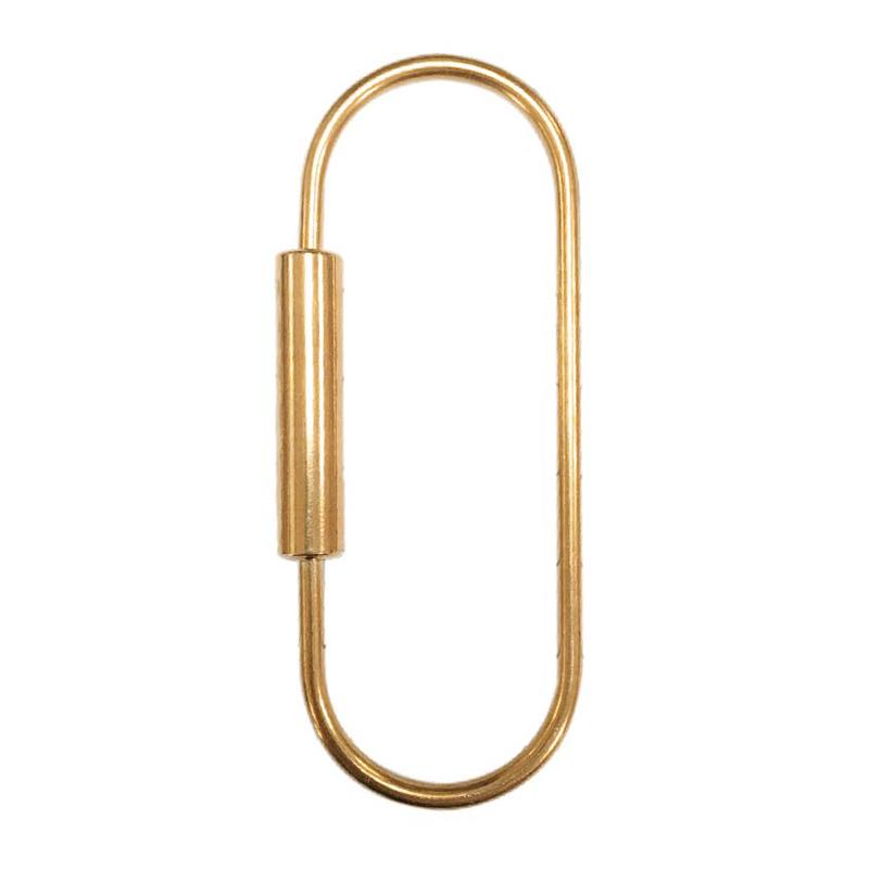 黃銅鑰匙扣(0型)-簡單生活