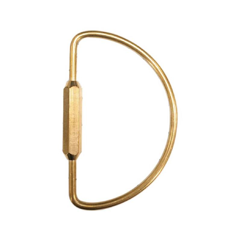 黃銅鑰匙扣(D型)-簡單生活