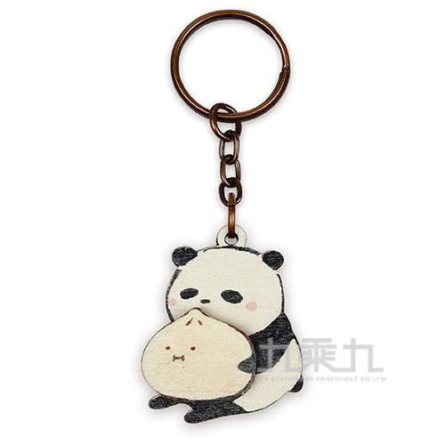 印刻所木鑰匙圈-熊包子