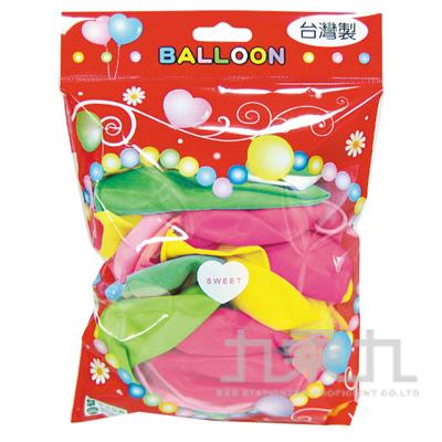 台灣製-10吋螢光圓型氣球/大包裝 BI-03037A