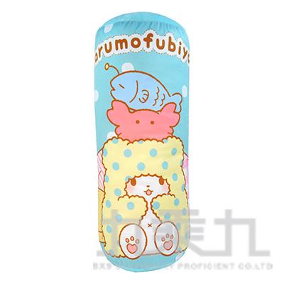 毛毯熊莫普大圓筒抱枕-粉藍 MF740005A