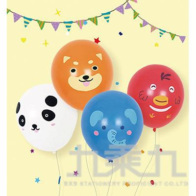 派對佈置-10吋氣球+動物造型貼 DE-03110