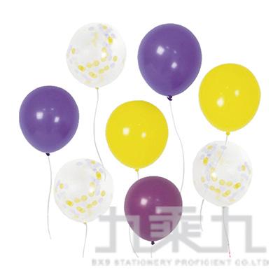派對佈置-12吋透明亮片+珍珠氣球 DE-03116