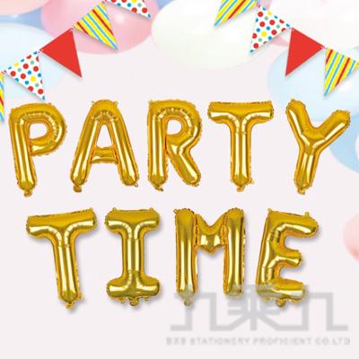 派對佈置 鋁箔英文字母氣球-金 DE-03143 (單個販售)