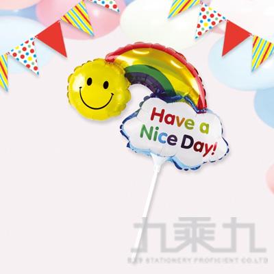 派對佈置 MINI手拿鋁箔彩虹氣球 DE-03146
