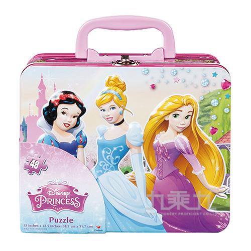 迪士尼公主系列手提鐵盒拼圖盒RE14418