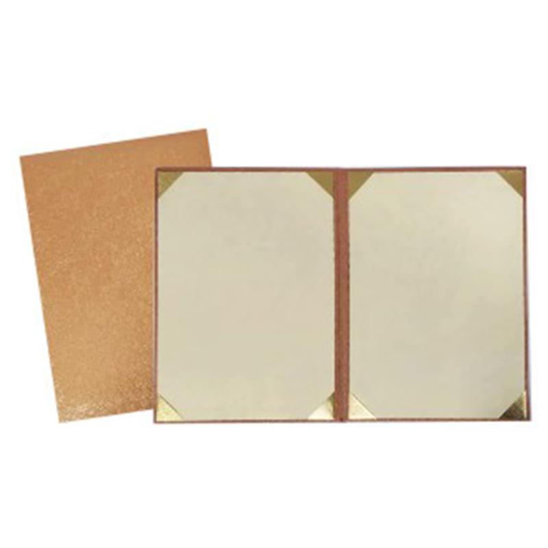 A4厚綿證書獎狀夾(古銅金)