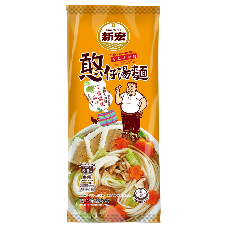 憨仔湯麵-百匯纖蔬風味220g