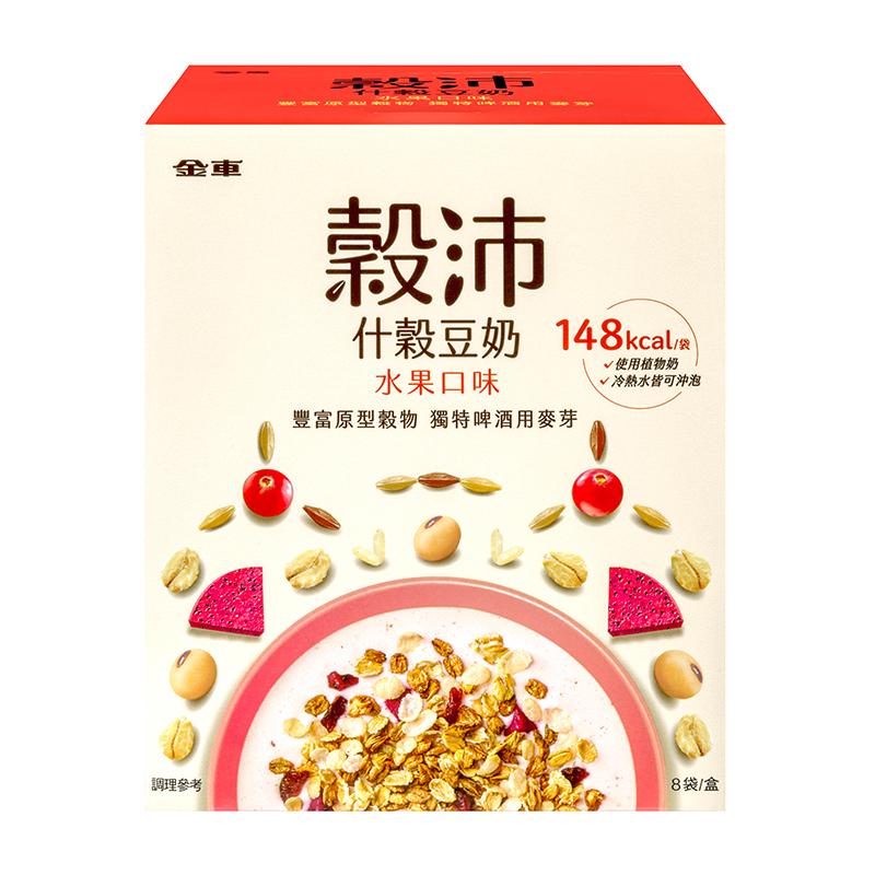 金車穀沛什穀豆奶 水果口味 34g/包/盒