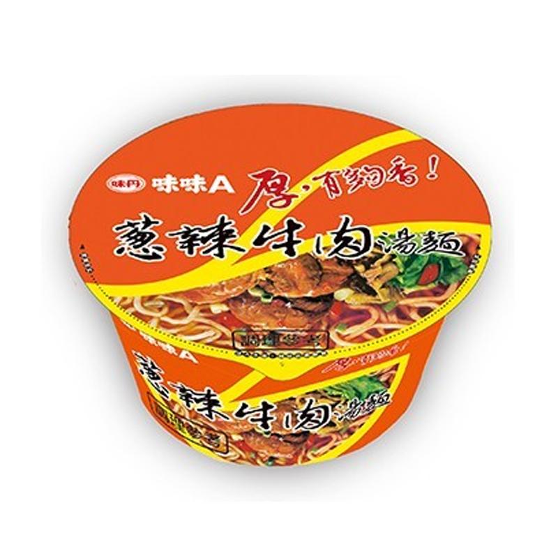 味丹味味A蔥辣牛肉麵90g/碗