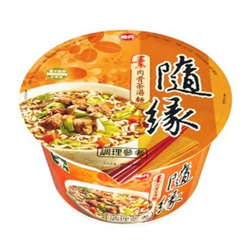 味丹隨緣素肉骨茶麵86g/碗