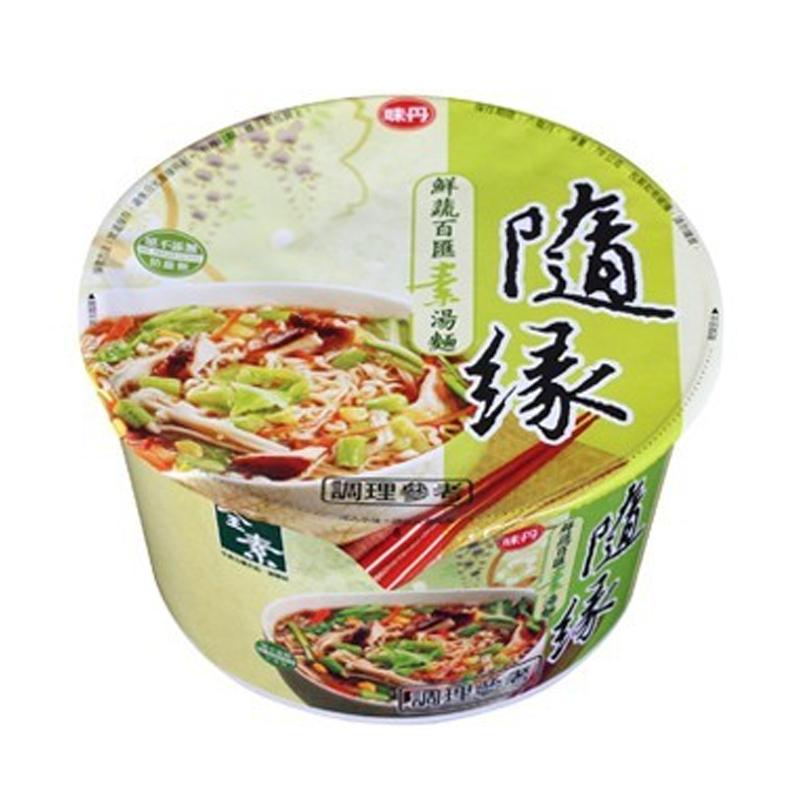 味丹隨緣鮮蔬百匯麵78g/碗