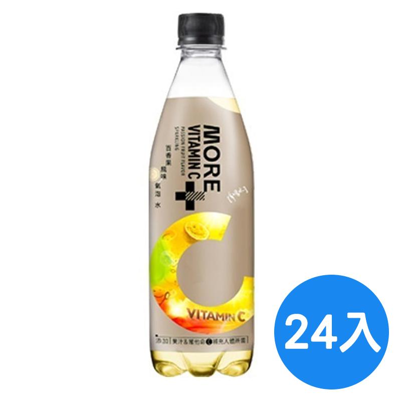 味丹多喝水MORE+氣泡水-百香果風味560ml/24入/箱