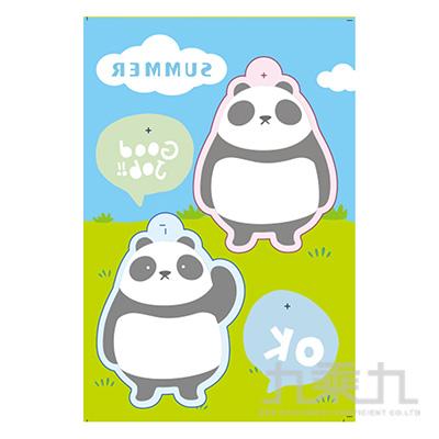 熱縮片鑰匙圈材料包-夏日熊貓
