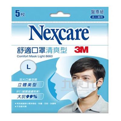 3M 輕爽型舒適口罩(L)-醫療用8660 06682-1601