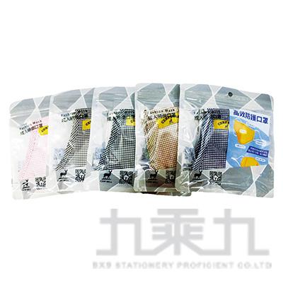 CB小格子可替換濾片棉布口罩 A012-M017 (款式隨機)