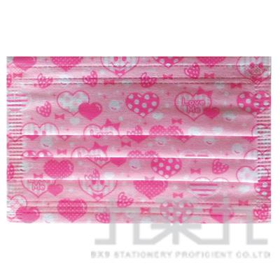 邑靚時尚兒童口罩3入-甜蜜粉