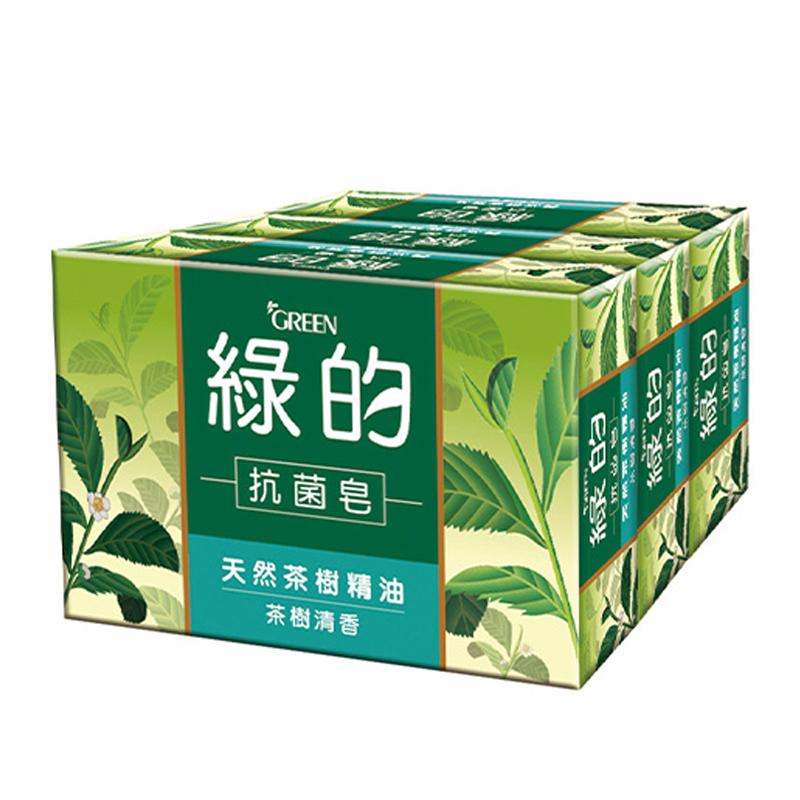綠的抗菌皂3入-茶樹清香