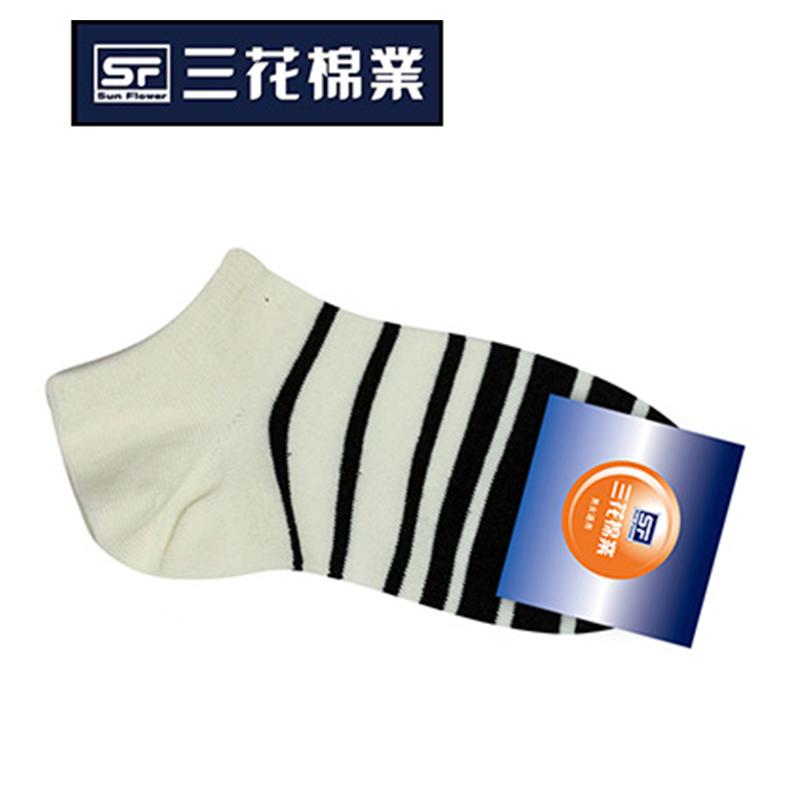 三花條紋隱形襪 -米#S06042