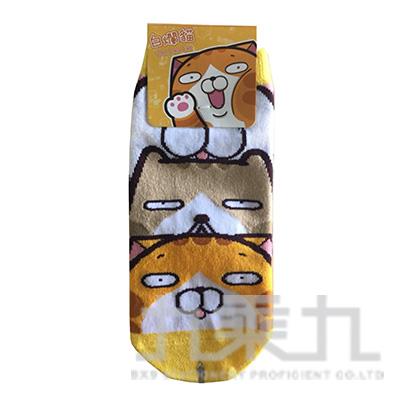 白爛貓短襪22~26cm Lan-103