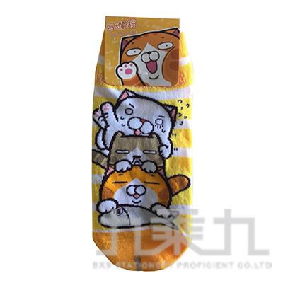 白爛貓短襪22~26cm Lan-104