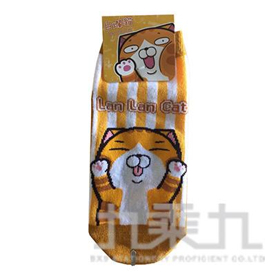 白爛貓短襪 22~26cm Lan-105