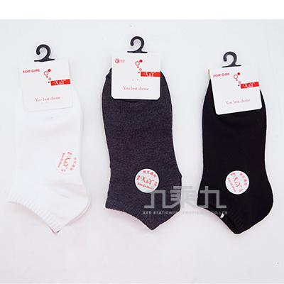 1060 XY素色船形襪-黑