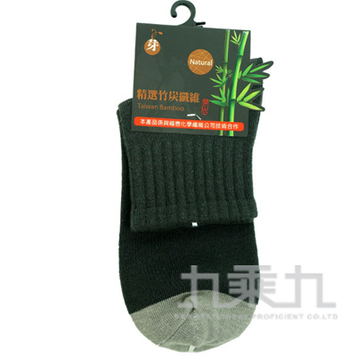 3992 YABY竹炭1/2襪-黑